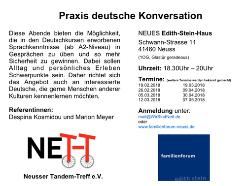 Flyer Praxis deutsche Konversation